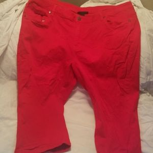 Red Lane Bryant Denim Capri 20/22/24